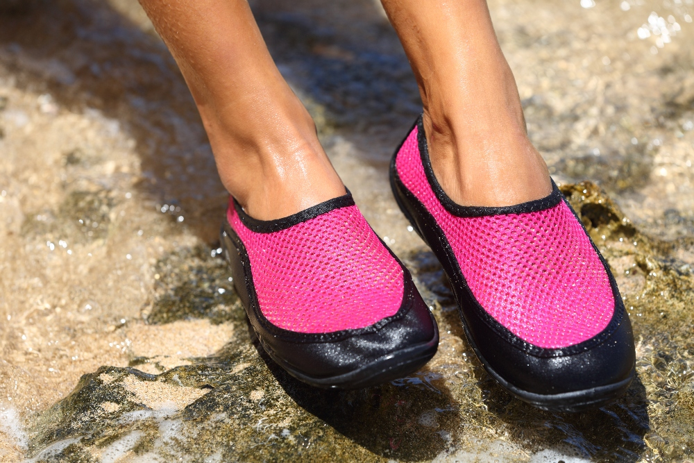 Water shoes athletes foot prevention