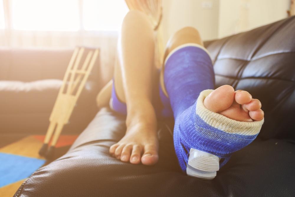 Fractured heel