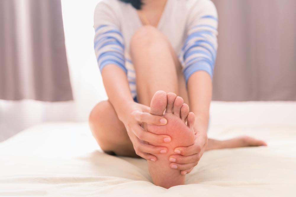 Foot pain causing misaligned feet
